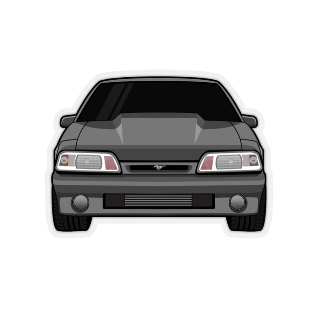 87-93 Foxbody Gray Sticker (Front) - 5ohNation