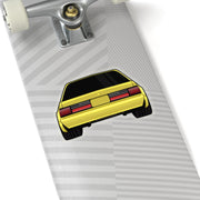88-93 Notchback Yellow Sticker (Rear) - 5ohNation