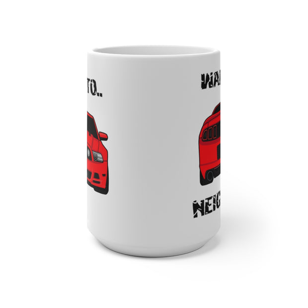 Race Red Wake The Neighbors Mug (Color Changing) - 5ohNation