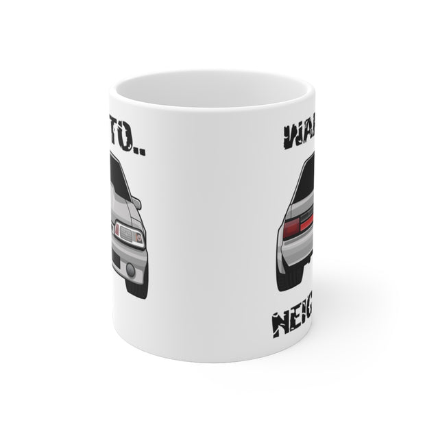 87-93 Silver Notchback Wake The Neighbors Mug (Original) - 5ohNation