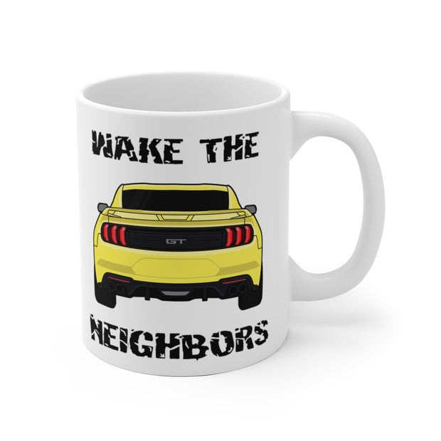 2018-19 Triple Yellow Wake The Neighbors Mug (Original) - 5ohNation