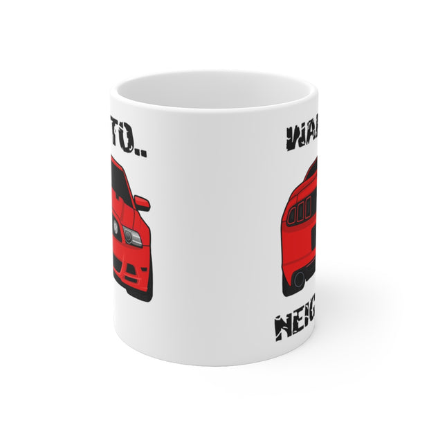 Wake The Neighbors Race Red Mug (Original) - 5ohNation