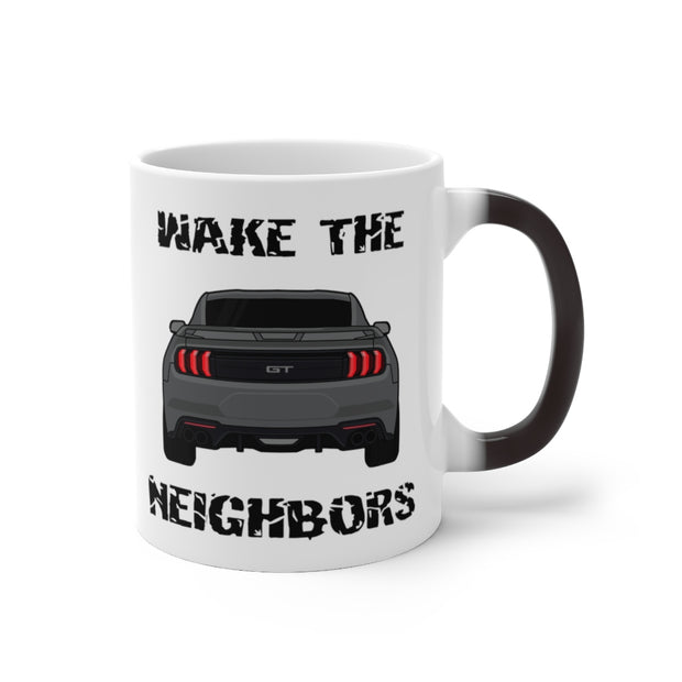 2018-19 Magnetic Metallic Wake The Neighbors Mug (Color Changing) - 5ohNation