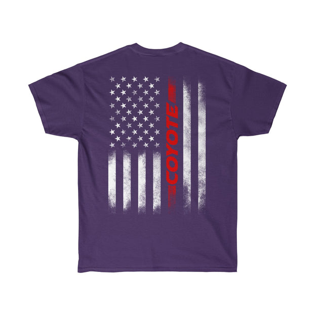 American Flag Coyote Tee (Red) - 5ohNation