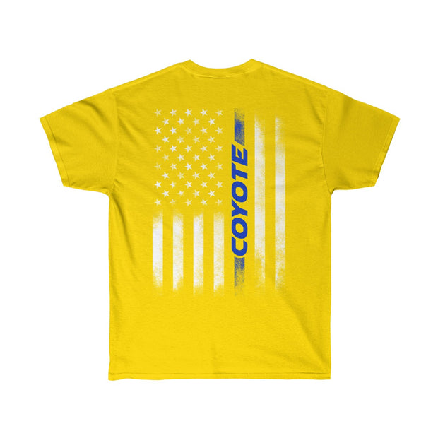 American Flag Coyote Tee (Back Design) - 5ohNation