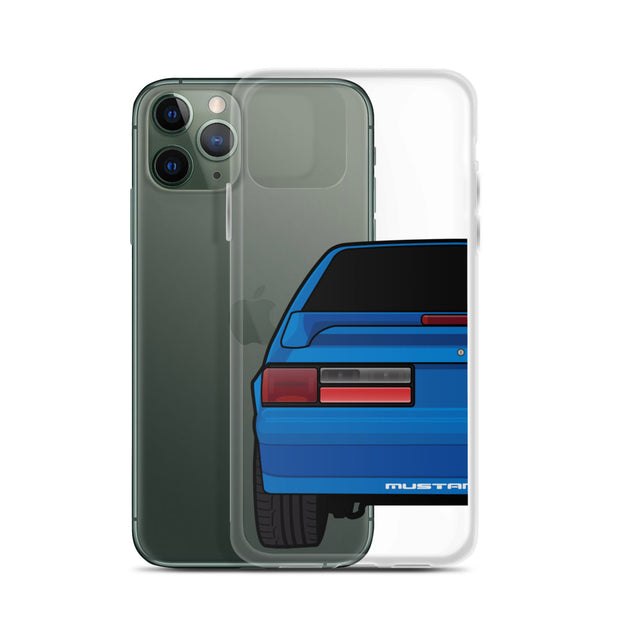 87-93 Blue Hatchback iPhone Case (Rear) - 5ohNation