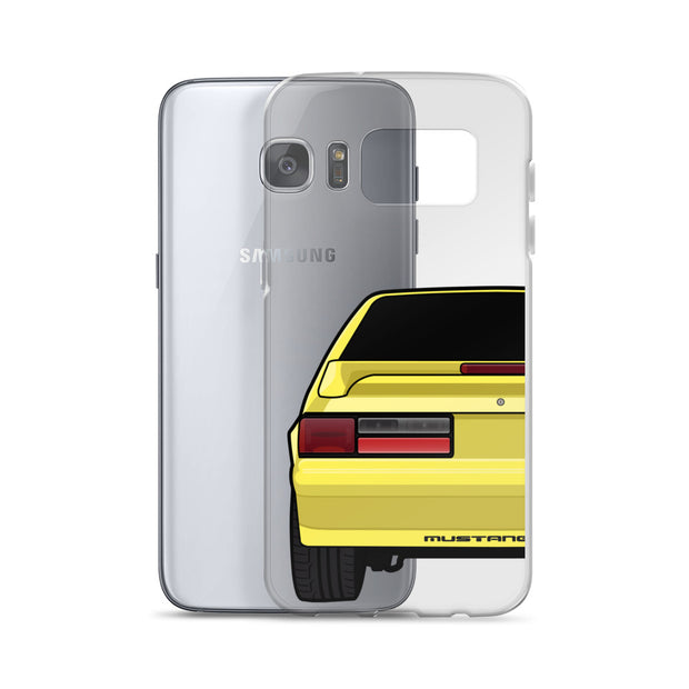 87-93 Yellow Hatchback Samsung Case (Rear) - 5ohNation