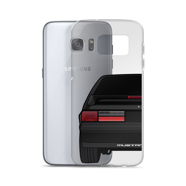 87-93 Black Hatchback Samsung Case (Rear) - 5ohNation
