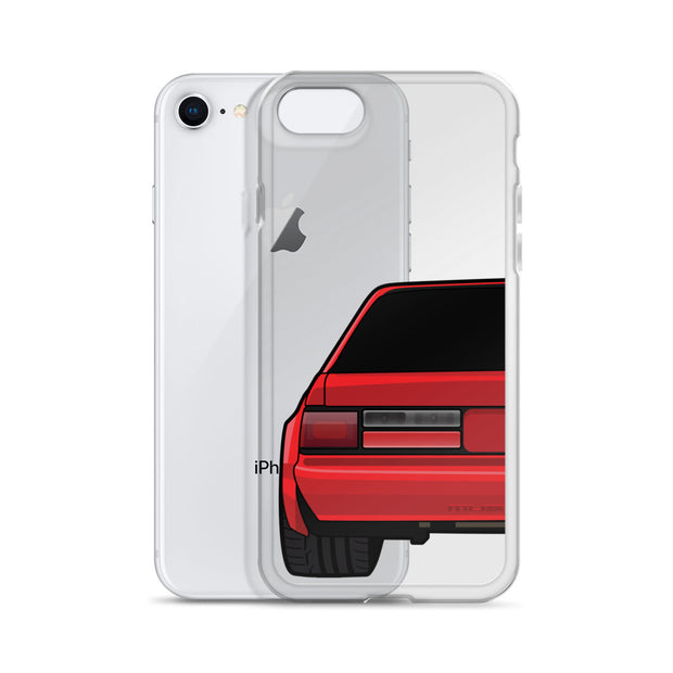 88-93 Notchback Red iPhone Case (Rear) - 5ohNation