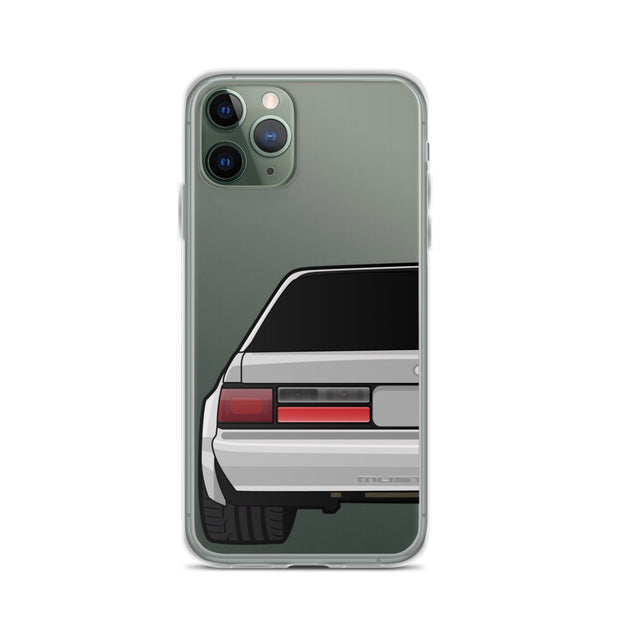 88-93 Notchback Silver iPhone Case (Rear) - 5ohNation