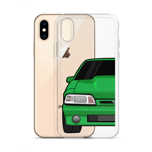 87-93 Green Foxbody iPhone Case (Front) - 5ohNation
