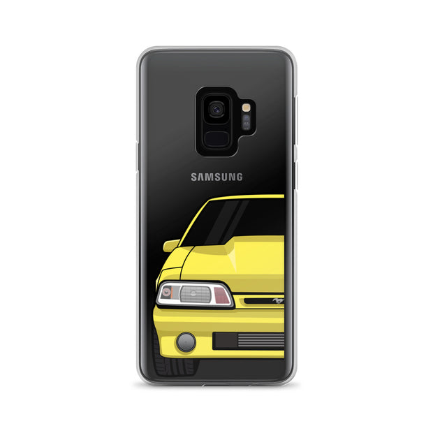87-93 Yellow Foxbody Samsung Case (Front) - 5ohNation