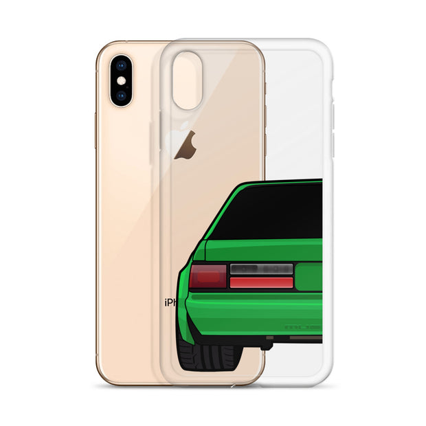 88-93 Notchback Green iPhone Case (Rear) - 5ohNation