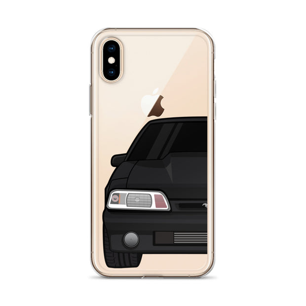 87-93 Black Foxbody iPhone Case (Front) - 5ohNation