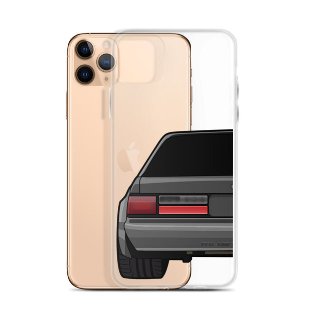 88-93 Notchback Gray iPhone Case (Rear) - 5ohNation