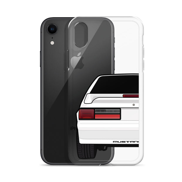 87-93 White Hatchback iPhone Case (Rear) - 5ohNation