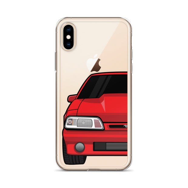 87-93 Red Foxbody iPhone Case (Front) - 5ohNation