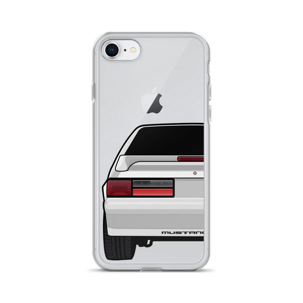 87-93 Silver Hatchback iPhone Case (Rear) - 5ohNation