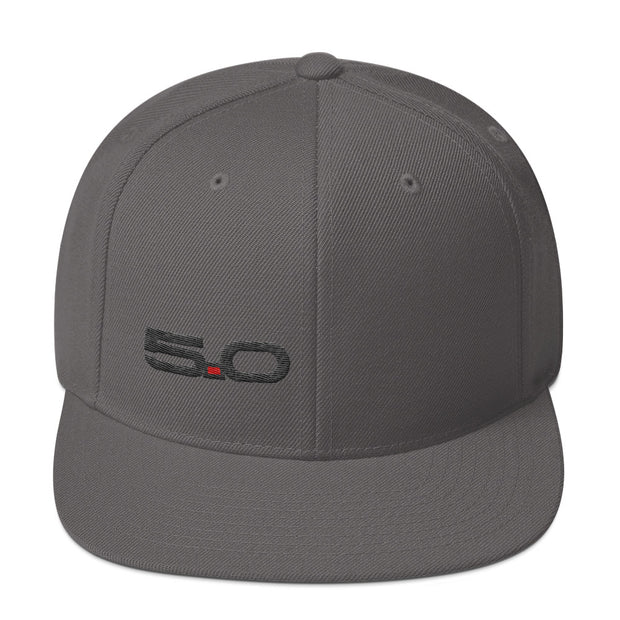 5.0 Snapback Hat (Black 5.0) - 5ohNation