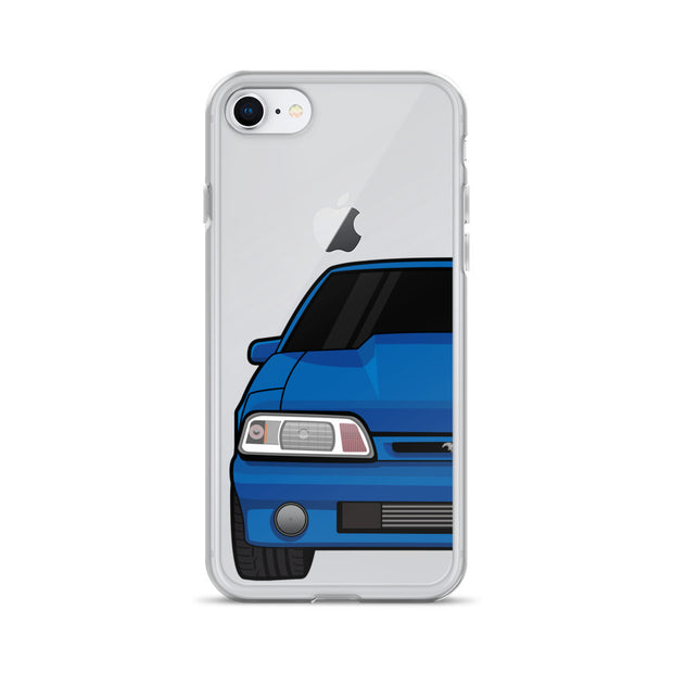 87-93 Blue Foxbody iPhone Case (Front) - 5ohNation