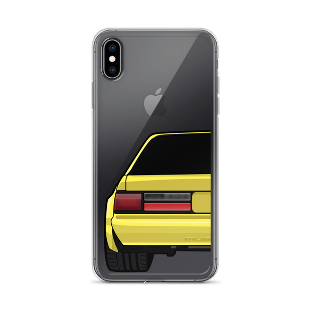 88-93 Notchback Yellow iPhone Case (Rear) - 5ohNation