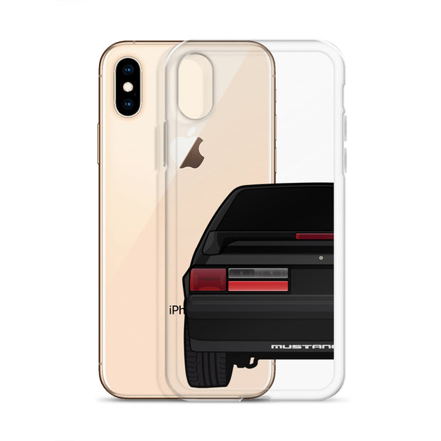 87-93 Black Hatchback iPhone Case (Rear) - 5ohNation
