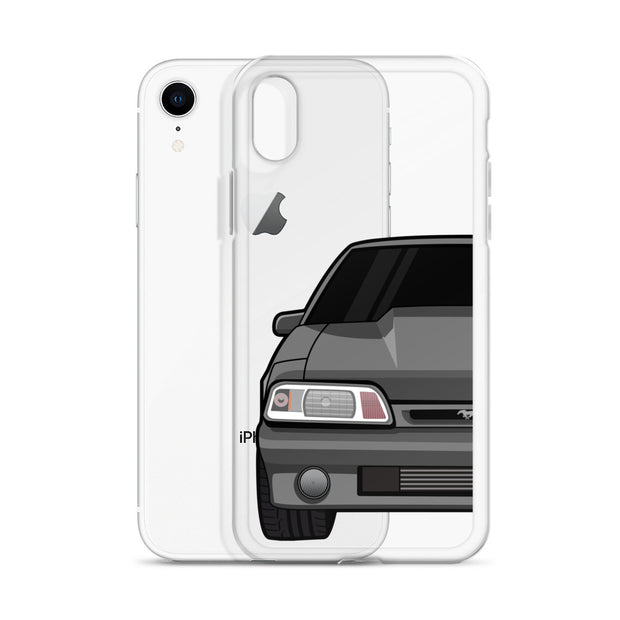 87-93 Gray Foxbody iPhone Case (Front) - 5ohNation