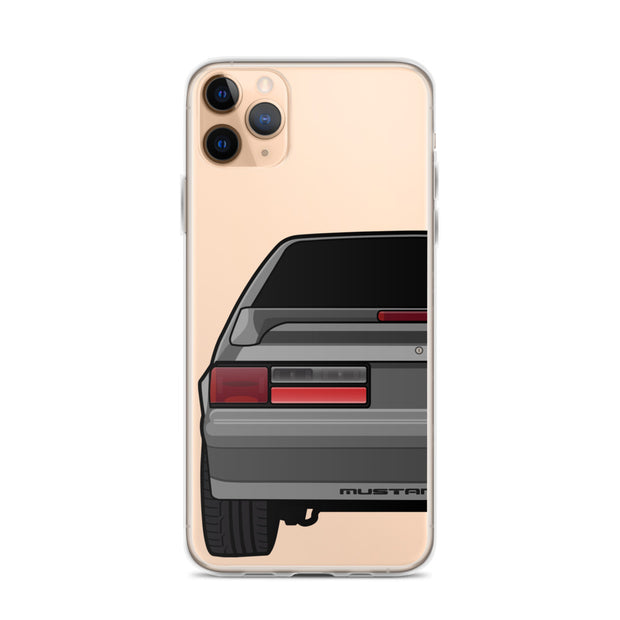 87-93 Gray Hatchback iPhone Case (Rear) - 5ohNation