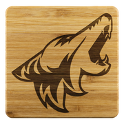 4pc Coyote Bamboo Coasters - 5ohNation