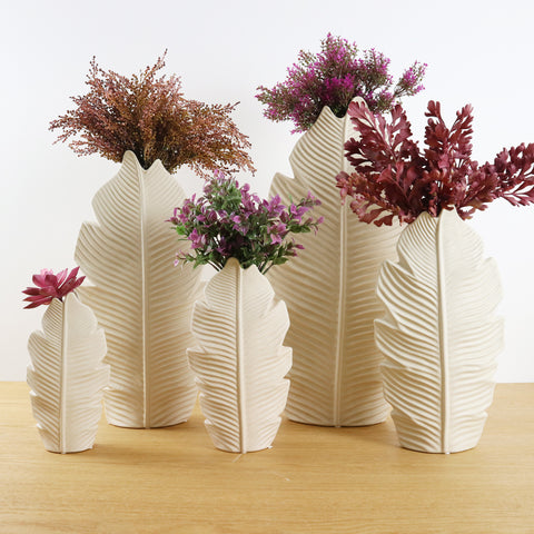 TROPICAL LEAF VASE