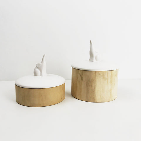 KATRIN WOODEN JAR