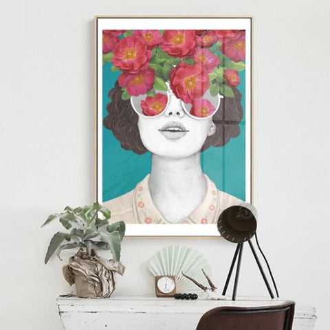 FLOWER GIRL ART PRINT