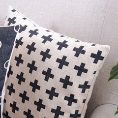 GEOMETRIC SIGNS DECORATIVE PILLOW COVER