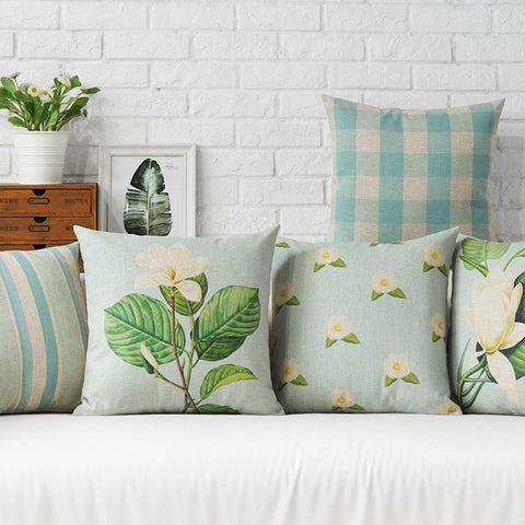 LIGHT BLUE SCHEME DECORATIVE PILLOW COVER