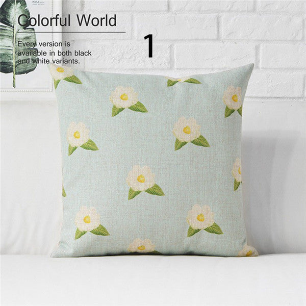 LIGHT BLUE SCHEME DECORATIVE PILLOW