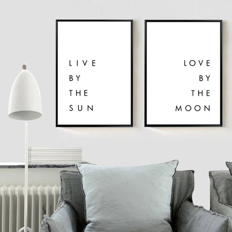 SUN & MOON QUOTE POSTER