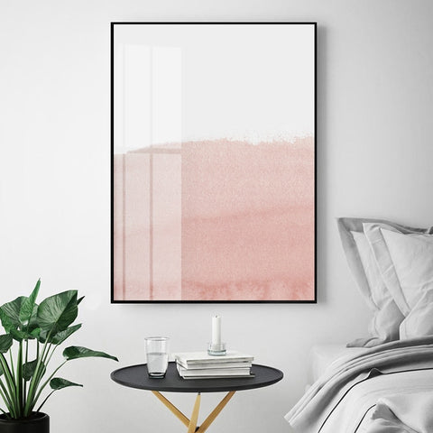 ABSTRACT PINK ART PRINT