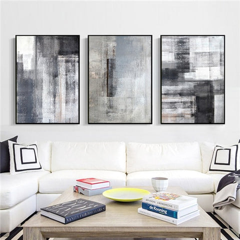 MONOTONE ABSTRACT ART PRINT