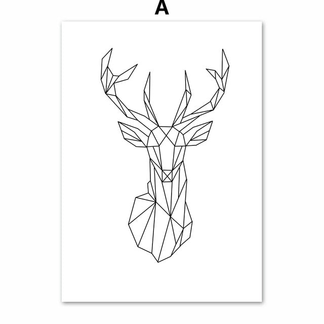 PIXELATED ANIMAL ART PRINT