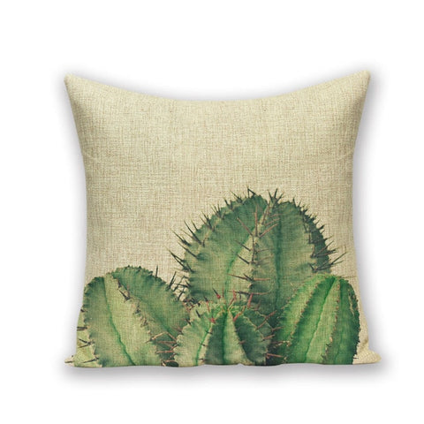 TROPICAL PLANT DECORATIVE PILLOW