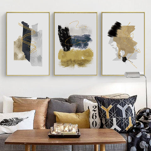 GOLDEN ABSTRACT ART PRINT