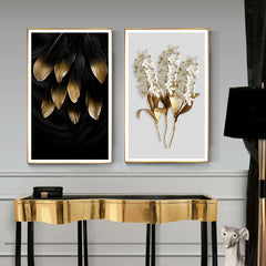 GOLDIE ABSTRACT WALL ART
