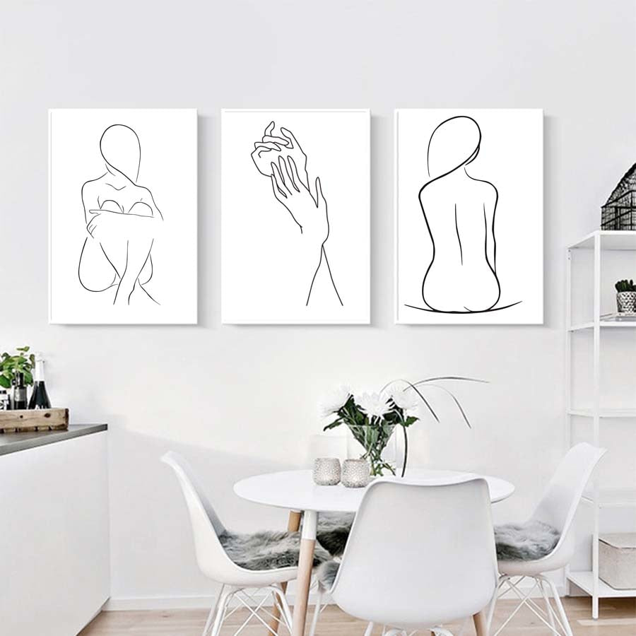 ABSTRACT FIGURE LINE ART PRINT
