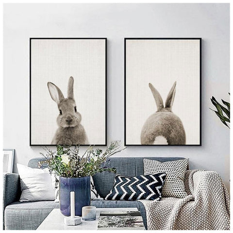 MINIMAL RABBIT ART PRINT