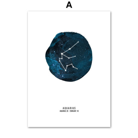 ASTROLOGY CONSTELLATION ART PRINT