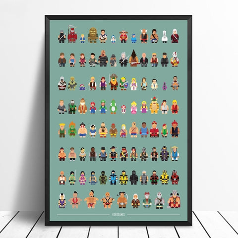 GAMING FIGURE ART PRINT