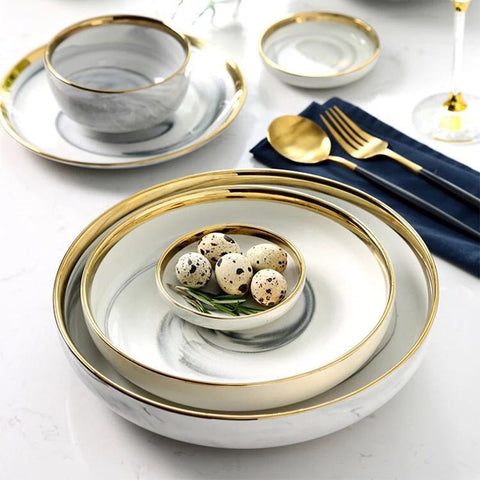 GOLDI MARBLE CERAMIC TABLEWARE