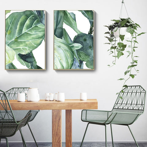 TROPICAL LEAF ART PRINT