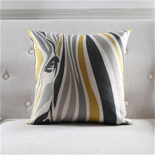 GOLDEN SILVER DECORATIVE PILLOW COVER