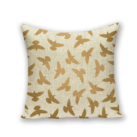 GOLDEN ABSTRACT DECORATIVE PILLOW COVER